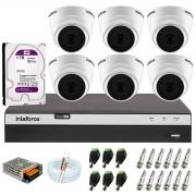 Kit com 6 Câmeras Infravermelho Full HD 1080p + DVR MHDX 3108 Intelbras + HD 1TB + Acessórios + App Grátis de Monitoramento