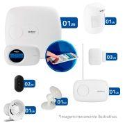 Kit de Alarme Intelbras AMT 2018 E com 04 Sensores com Monitoramento Por Aplicativo via Internet Sem Fio