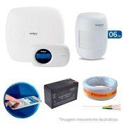 Kit de Alarme Intelbras AMT 2010 com 06 Sensores Com Fio