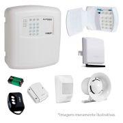 Kit de Alarme Residencial ECP 02 Sensores Sem Fio + Teclado Sem Fio e Controle Remoto, Com discadora via Celular
