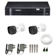 Kit 2 Câmeras de Segurança HD 720p Intelbras VHD 1010B G4 + DVR Intelbras Multi HD + Acessórios