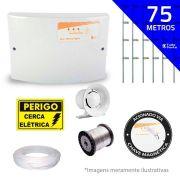 Kit de Cerca Elétrica para 75 metros Central GCP Liga/Desliga por Chave Magnetica com Haste M + Acessórios