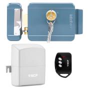 Kit fechadura elétrica fx 2000 intelbras com abertura por controle remoto