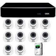 Kit Giga Security 10 Câmeras 2K GS0041 + DVR com HD 1TB Seagate + Acessórios