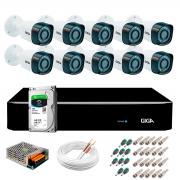 Kit Giga Security 10 Câmeras Full HD 1080p gs0271 + DVR com HD 1TB Seagate + Acessórios