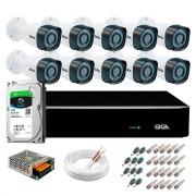Kit Giga Security 10 Câmeras HD 720p GS0018 + DVR com HD 1TB Seagate + Acessórios