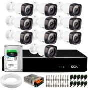 Kit Giga Security 10 Câmeras HD 720p GS0020 + DVR com HD 1TB Seagate + Acessórios
