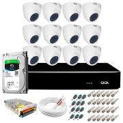 Kit Orion Giga Security 12 Câmeras HD 720p GS0019 + DVR Full HD com HD 1TB Seagate + Acessórios
