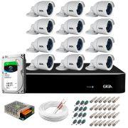 Kit 12 Câmeras Orion GS0022 HD 720p Giga Security + DVR com HD 1TB Seagate + Acessórios