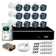 Kit Giga Security 12 Câmeras HD 720p GS0018 + DVR com HD 1TB Seagate + Acessórios