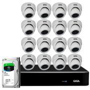 Kit Orion HD 720p 16 Câmeras GS0021 + DVR Giga Security + HD 1TB Skygawk + Acessórios
