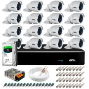 Kit 16 Câmeras Orion GS0022 HD 720p Giga Security + DVR com HD 1TB Seagate + Acessórios