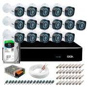 Kit Giga Security 16 Câmeras HD 720p GS0018 + DVR com HD 1TB Seagate + Acessórios
