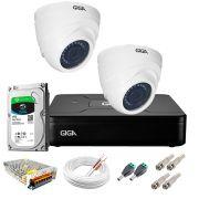 Kit Giga Security 2 Câmeras HD 720p GS0019 + DVR Lite com HD 1TB Seagate + Acessórios