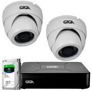 Kit HD 720p 02 Câmeras GS0021 + DVR Giga Security + HD 1TB Skygawk + Acessórios