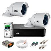 Kit 2 Câmeras GS0022 HD 720p Giga Security + DVR com HD 1TB Seagate + Acessórios