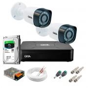 Kit Giga Security 2 Câmeras HD 720p GS0018 + DVR com HD 1TB Seagate + Acessórios
