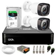 Kit Giga Security 2 Câmeras HD 720p GS0020 + DVR com HD 1TB Seagate + Acessórios
