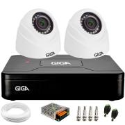 Kit Giga Security 2 Câmeras HD 720p GS0019 + DVR Lite + Acessórios