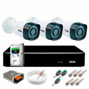 Kit Giga Security 3 Câmeras Full HD 1080p gs0271 + DVR com HD 1TB Seagate + Acessórios