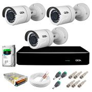 Kit Super Starvis Full HD 1080p 03 Câmeras GS0055 + DVR Giga Security + HD 1TB Skyhawk + Acessórios