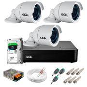 Kit 3 Câmeras GS0022 HD 720p Giga Security + DVR com HD 1TB Seagate + Acessórios
