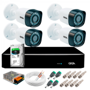 Kit Giga Security 4 Câmeras Full HD 1080p gs0271 + DVR com HD 1TB Seagate + Acessórios