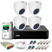 Kit Giga Security 4 Câmeras HD 720p GS0019 + DVR Lite com HD 1TB Seagate + Acessórios
