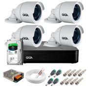 Kit 4 Câmeras GS0022 HD 720p Giga Security + DVR com HD 1TB Seagate + Acessórios