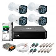 Kit Giga Security 4 Câmeras HD 720p GS0018 + DVR com HD 1TB Seagate + Acessórios