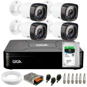 Kit Giga Security 4 Câmeras HD 720p GS0020 + DVR com HD 1TB Seagate + Acessórios