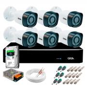 Kit Giga Security 6 Câmeras Full HD 1080p gs0271 + DVR com HD 1TB Seagate + Acessórios