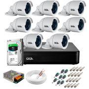 Kit 8 Câmeras GS0022 HD 720p Giga Security + DVR com HD 1TB Seagate + Acessórios
