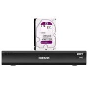 Kit Gravador Digital Inteligente de Vídeo iMHDX 3016 Intelbras com 16 Canais + HD WD Purple 3TB