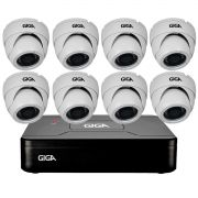 Kit HD 720p 08 Câmeras GS0021 + DVR Giga Security + Acessórios