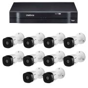 Kit intelbras 10 câmeras hd 720p vhl 1120 b + dvr 1116 intelbras + acessórios