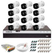 Kit Intelbras 12 Câmeras Full HD 1080p VHL 1220 B + DVR 3116 Intelbras  + Acessórios
