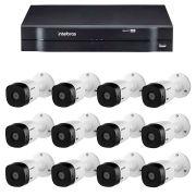 Kit Intelbras 12 Câmeras HD 720p VHL 1120 B + DVR 1116 Intelbras  + Acessórios