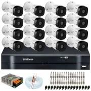 Kit Intelbras 16 Câmeras HD 720p VHL 1120 B + DVR 1116 Intelbras  + Acessórios