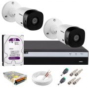Kit Intelbras 2 Câmeras Full HD 1080p VHL 1220 B + DVR 3104 Intelbras com HD 1TB + Acessórios