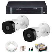 Kit Intelbras 2 Câmeras HD 720p VHL 1120 B + DVR 1104 Intelbras  + Acessórios