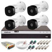 Kit Intelbras 4 Câmeras Full HD 1080p VHL 1220 B + DVR 3104 Intelbras  + Acessórios