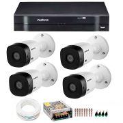 Kit Intelbras 4 Câmeras HD 720p VHL 1120 B + DVR 1004 Intelbras  + Acessórios