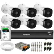 Kit Intelbras 6 Câmeras Full HD 1080p VHL 1220 B  + Gravador iMHDX 3008 8 Canais + HD 1 TB