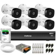 Kit Intelbras 6 Câmeras Full HD 1080p VHL 1220 B  + Gravador iMHDX 3008 8 Canais + HD 2 TB