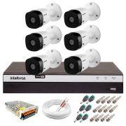 Kit Intelbras 6 Câmeras Full HD 1080p VHL 1220 B + DVR 3108 Intelbras  + Acessórios