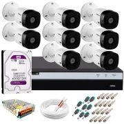 Kit Intelbras 8 Câmeras Full HD 1080p VHL 1220 B + DVR 3108 Intelbras com HD 1TB + Acessórios