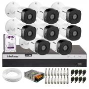 Kit Intelbras 8 Câmeras Full HD 1080p VHL 1220 B + DVR Intelbras Full HD MHDX 3108 + HD 1TB