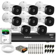 Kit Intelbras 8 Câmeras Full HD 1080p VHL 1220 B  + Gravador iMHDX 3008 8 Canais + HD 2 TB