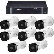 Kit Intelbras 8 Câmeras HD 720p VHL 1120 B + DVR 1108 Intelbras  + Acessórios
